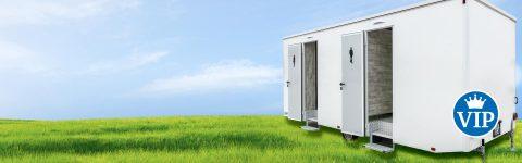 Luxuriöse Toilettenwagen und Toilettencontainer