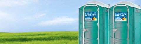 Miettoiletten schnell, </br> solide und sauber